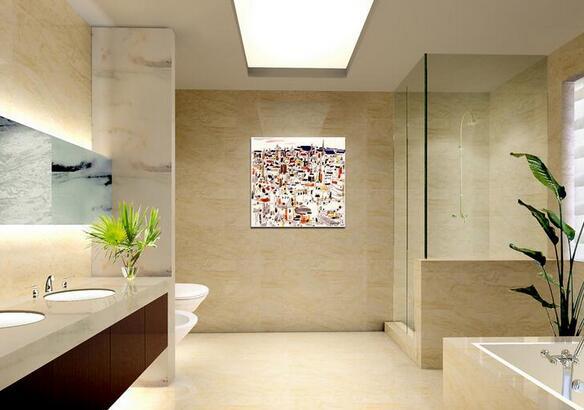 长方形厕所马桶靠窗装修效果图